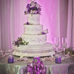 Wedding Cake in Banquet Hall at The Crystal Ballroom in Casselberry
