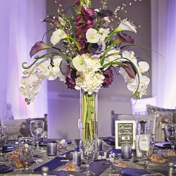 Floral Centerpiece at Wedding hosted at The Crystal Ballroom in Casselberry