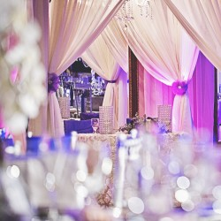Purple & White Wedding Reception at The Crystal Ballroom in Casselberry