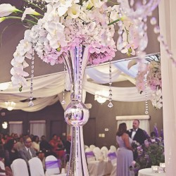 Elegant Wedding Decor at The Crystal Ballroom in Casselberry