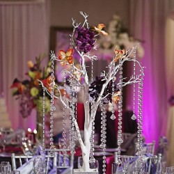 Wedding Reception Centerpiece at The Crystal Ballroom in Casselberry