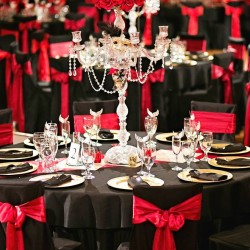 Black & Red Wedding Reception at The Crystal Ballroom in Casselberry