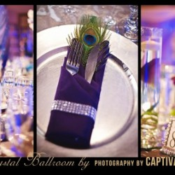 Silverware Wedding Decor at The Crystal Ballroom in Casselberry