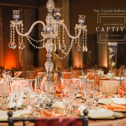 Peach Wedding Decor at The Crystal Ballroom in Casselberry