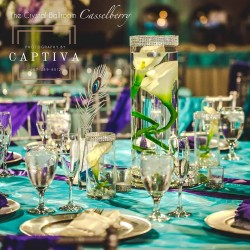 Blue & Purple Wedding Reception at The Crystal Ballroom in Casselberry