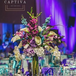 Floral Centerpiece & Reception Design at The Crystal Ballroom in Casselberry