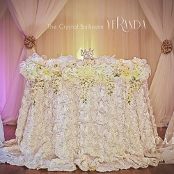 Wedding Reception Decor & Design at The Crystal Ballroom in Orlando