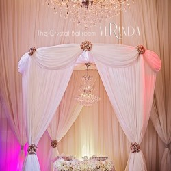 Wedding Reception Venue & Decor at The Crystal Ballroom in Orlando