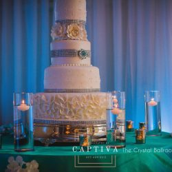 Beautiful Wedding Cake at The Crystal Ballroom in Casselberry