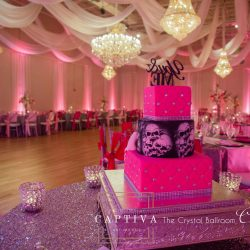 Quinceanera Cake at The Crystal Ballroom in Casselberry