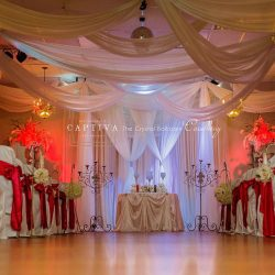 Red & White Wedding Reception at The Crystal Ballroom in Casselberry