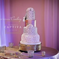 Wedding Cake & Table at The Crystal Ballroom in Casselberry