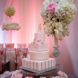 Wedding Cake & Wedding Reception Design at The Crystal Ballroom in Orlando