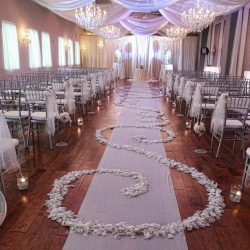 Wedding Reception in the Banquet Hall at The Crystal Ballroom in Orlando