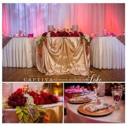 Head Table for wedding receptiojn