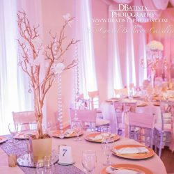 Wedding Decor at The Crystal Ballroom in Casselberry