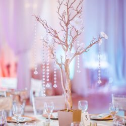 Wedding Table Centerpiece at The Crystal Ballroom in Casselberry
