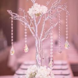 Wedding Reception Centerpiece at The Crystal Ballroom in Orlando