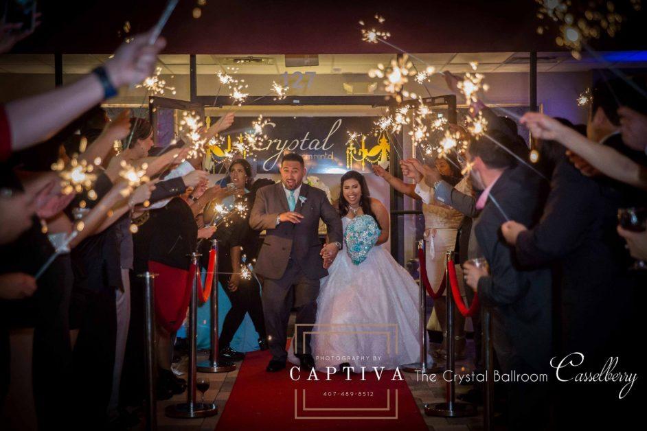 creative wedding in orlando by crystal ballroom
