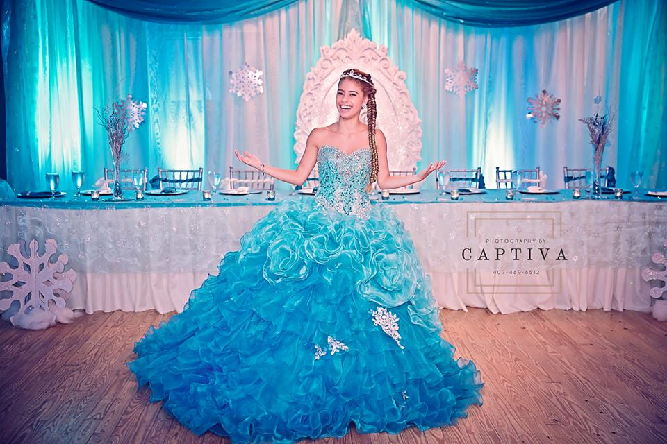 girl smiling at her quinceañera celebration