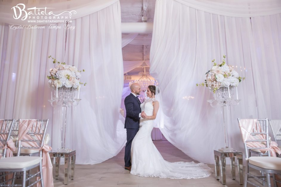 couple enjoying Crystal Ballroom luxury wedding