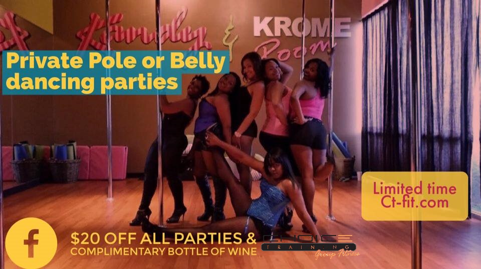 $20 off Pole Parties at Choice Training, Kandy & Krome Room, Carrollton Texas