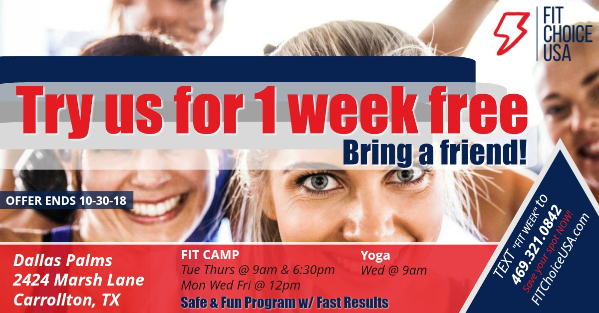 Fit Choice USA 1 week pass