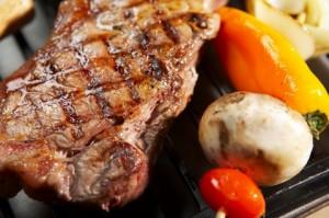 steak next to cabob
