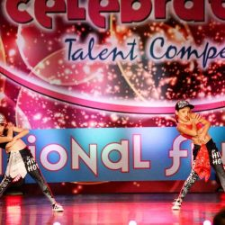 Duo Performing in Hip Hop Dance Competition