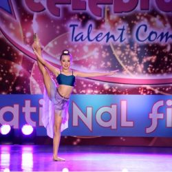 Child Performing in Lyrical Dance Competition