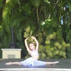 Child Posing in Lyrical Dance Pose