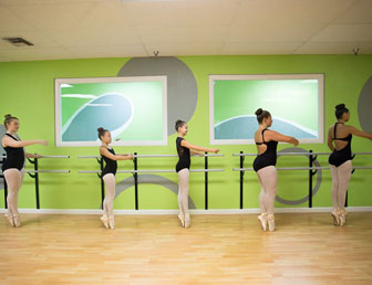 Ballerinas Practicing Pointe