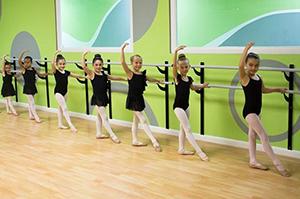 Ballet Dancers at Barre