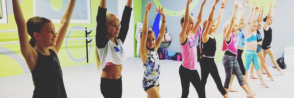 Kids Posing in the Dance Studio