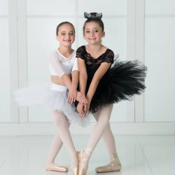 Two Ballerina Friends at the Dance Studio