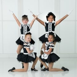 Four of Our Dance Students Dressed As Maids