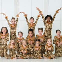 One of Our Dance Classes Dressed As Leopards