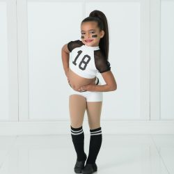 Young Dancer In Football Player Costume