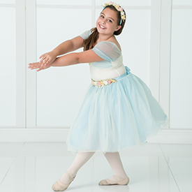 Student Performing in Ballet Dance Class