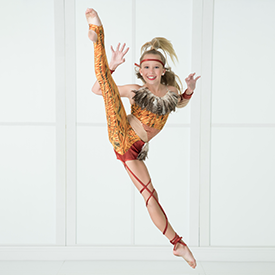 Student Performing in Jazz Dance Class