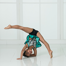 Young Girl Performing in Tumbling Dance Class