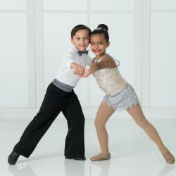 Student Duet Performing in Jazz Dance Class