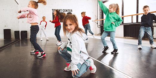 Kids Dancing and Posing