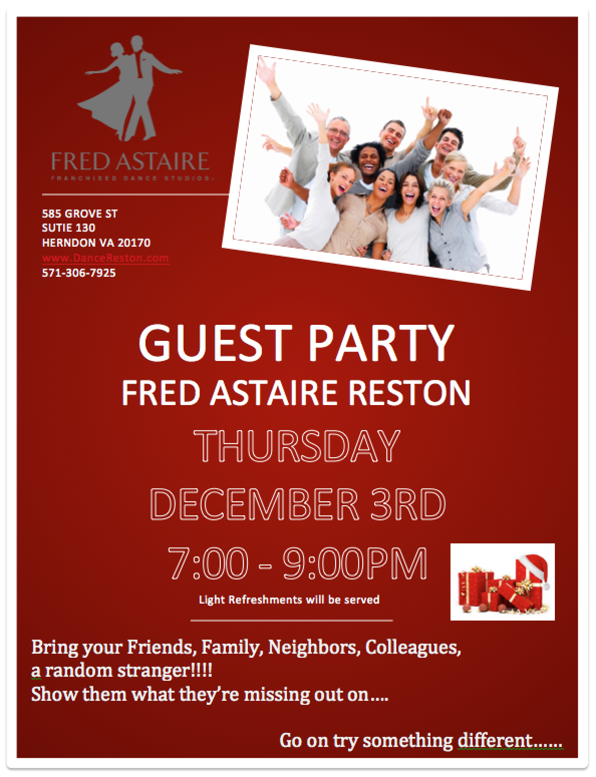 Next Guest Party Dec 5th | Fred Astaire Franchise Dance Studio