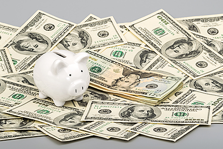 Picture of a pile of money