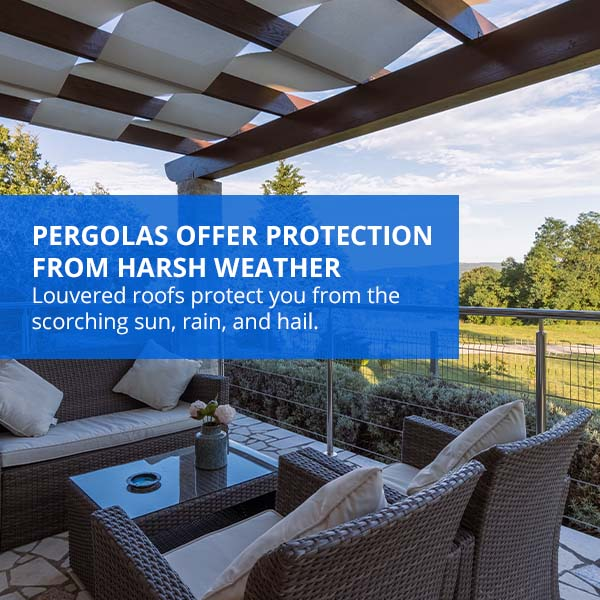 Pergolas Offer Protection from Harsh Weather
