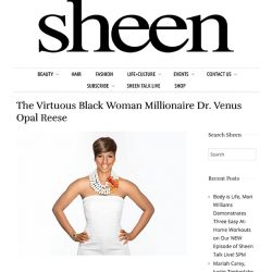 (Sheen Magazine 226 The Virtuous Black Woman Millionaire Dr. Venus Opal Reese