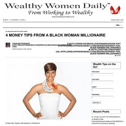 4 Money Tips from a Black Woman Millionaire - Wealthy Women Daily