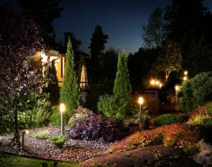 A residential electrician can install lights in your garden.