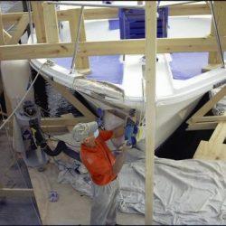 Custom Yacht Carpentry - Bow Work
